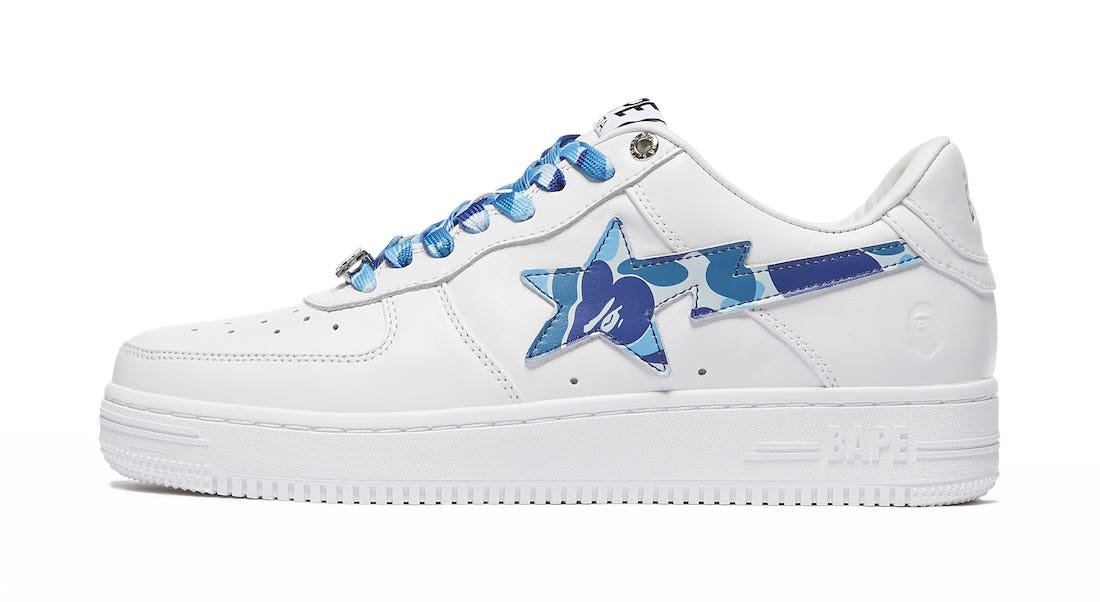 Bape Sta White Blue Camo Release Date