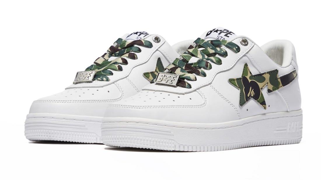 Bape Sta White Green Camo Release Date