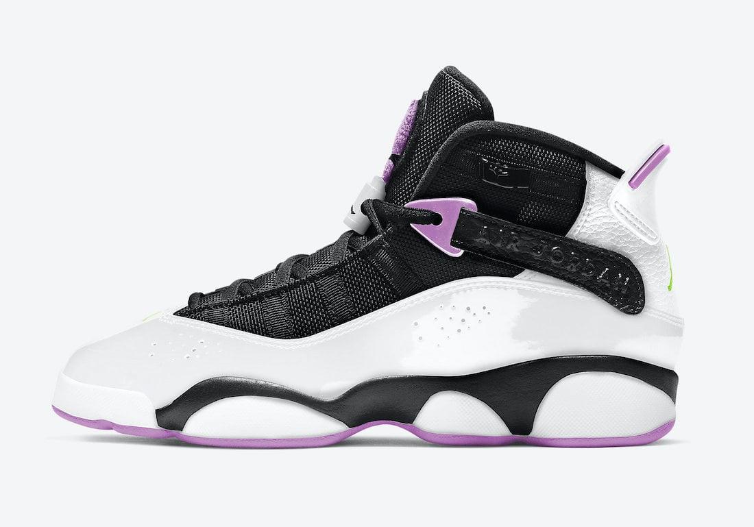Jordan 6 Rings GS Light Purple Electric Green 323419-150 Release Date Info