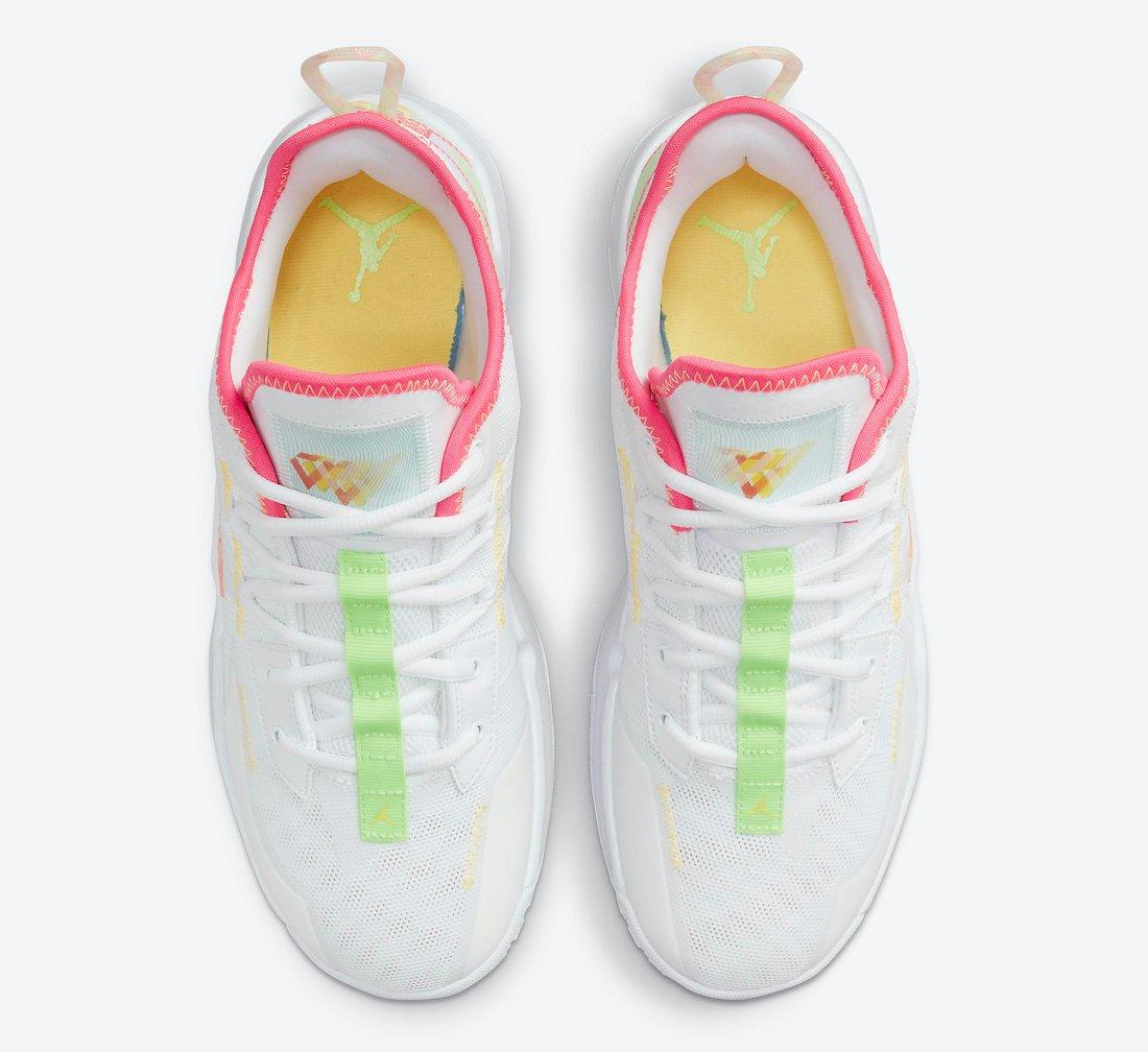 Jordan Westbrook One Take II White Pink Volt Yellow CW2457-163 Release Date Info