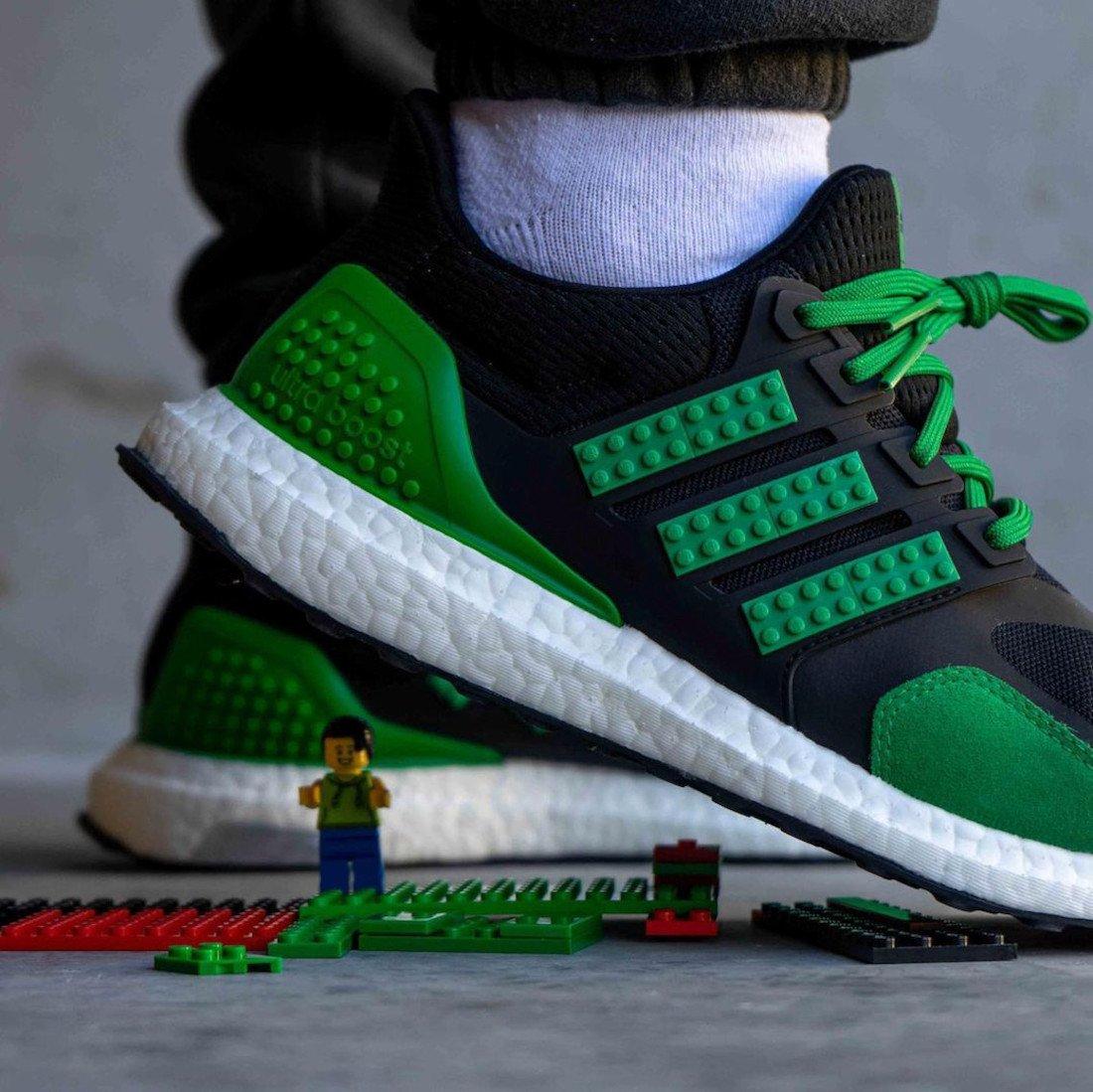 LEGO adidas Ultra Boost Black Green Release Date Info