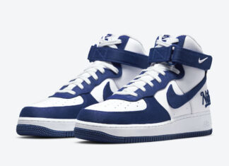 Nike Air Force 1 High EMB Dodgers Rush Blue DC8168-100 Release Date Info
