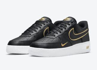 Nike Air Force 1 Low Black White Gold DA8481-001 Release Date Info