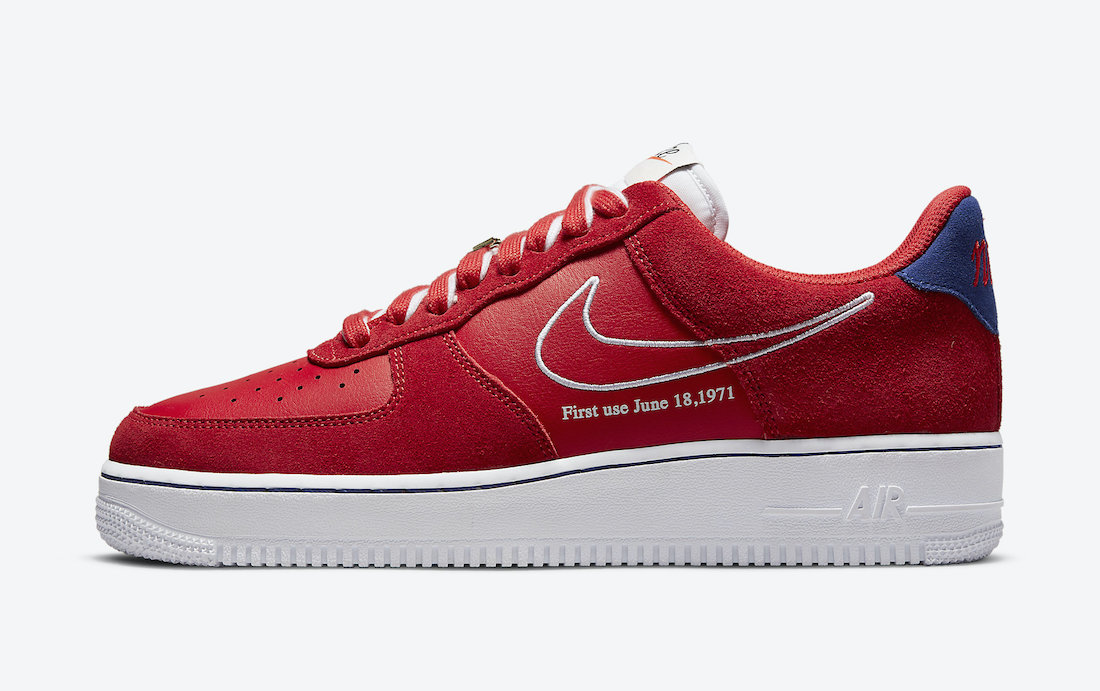 Nike Air Force 1 Low First Use University Red White Deep Royal Blue DB3597-600 Release Date Info