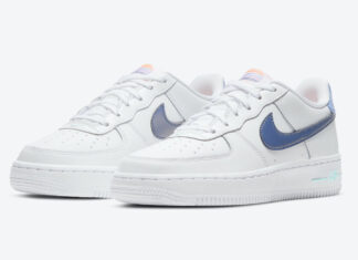 Nike Air Force 1 Low GS White Light Thistle Dark Purple Dust DC8188-100 Release Date Info