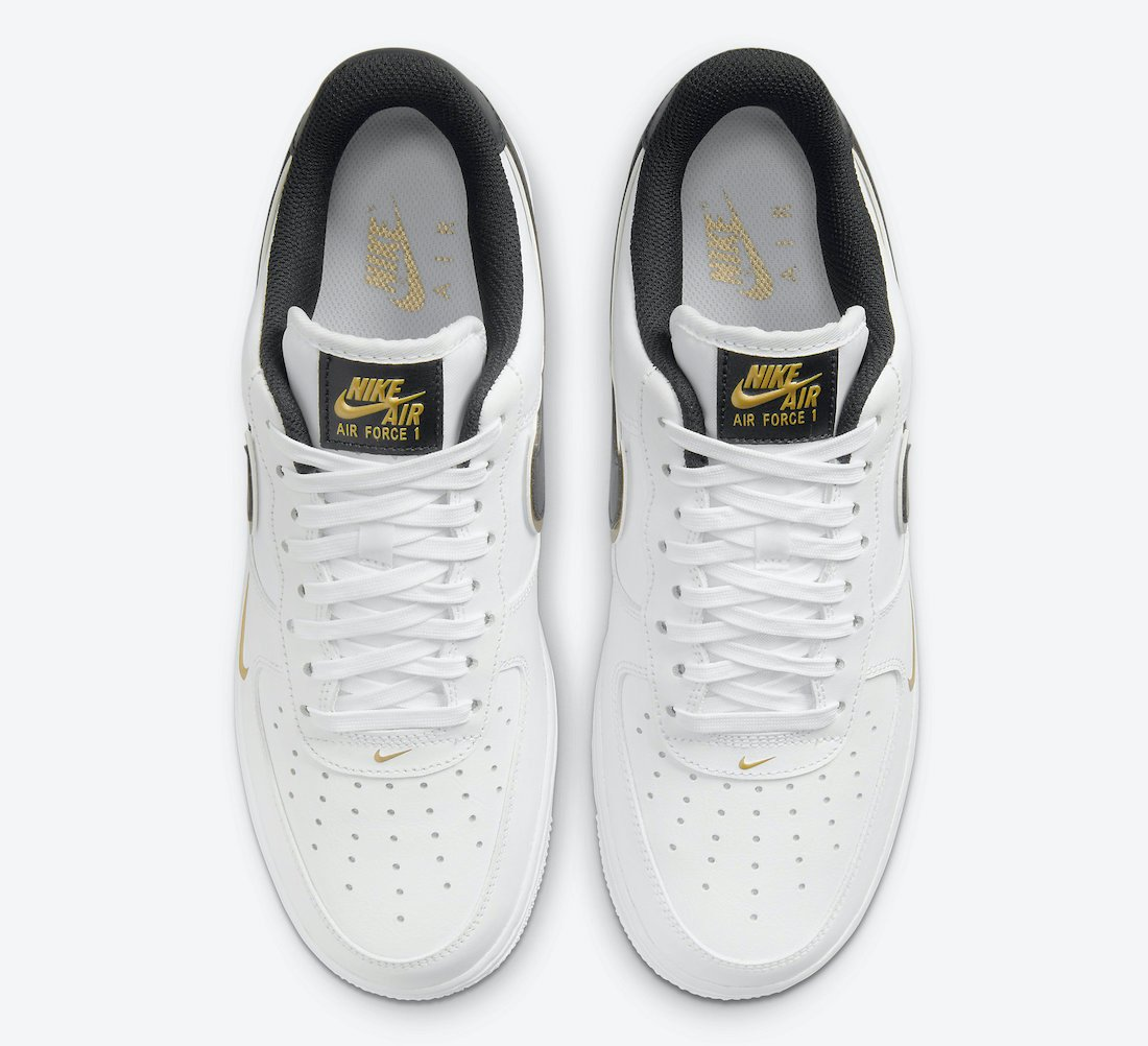 Nike Air Force 1 Low White Black Gold DA8481-100 Release Date Info