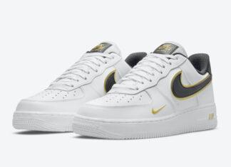 Nike Air Force 1 Low White Black Gold DA8481-100 Release Date Info