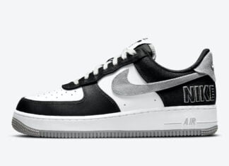 Nike Air Force 1 LV8 EMB Black Flat Silver CT2301-001 Release Date Info