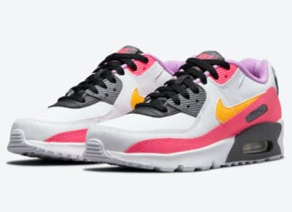 Nike Air Max 90 GS White Pink Yellow Purple DM8685-100 Release Date Info