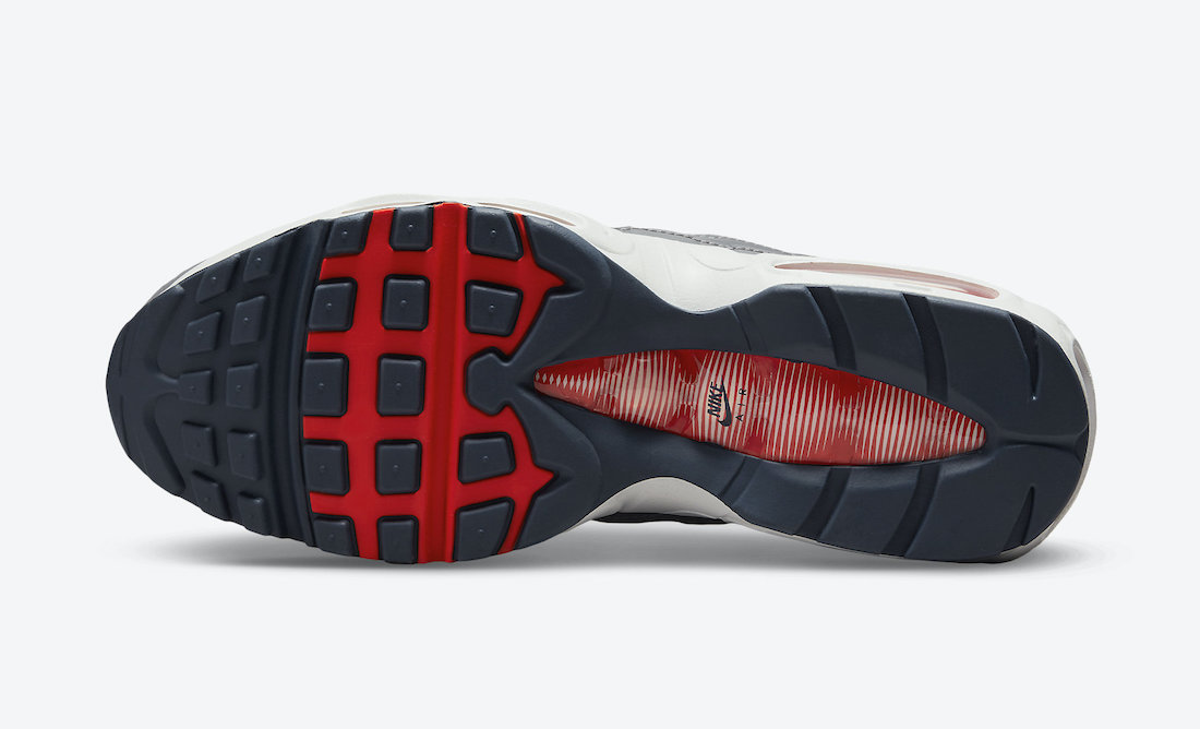 Nike Air Max 95 Grey Navy Crimson DB0250-001 Release Date Info
