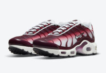 Nike Air Max Plus GS White Burgundy Red CD0609-600 Release Date Info