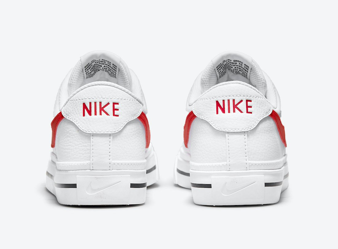 Nike Court Legacy White University Red CU4150-105 Release Date Info