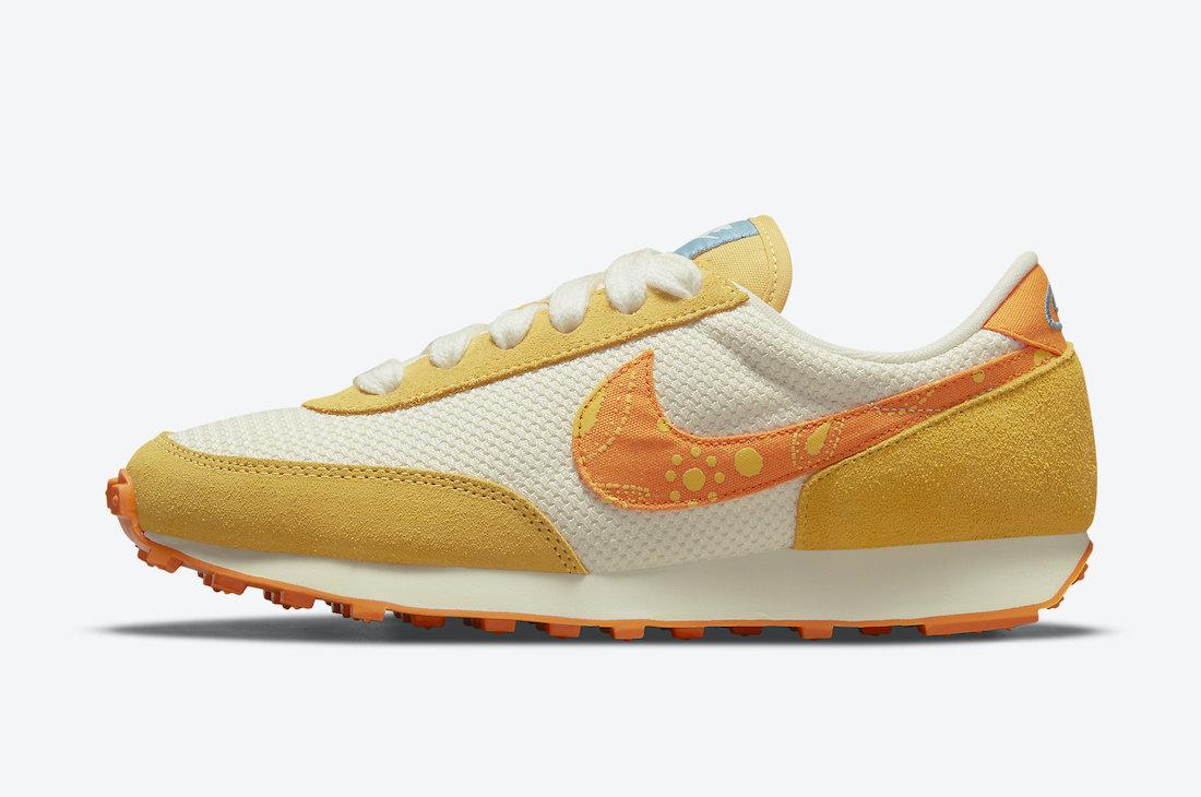 Nike Daybreak Paisley Pale Ivory Orange DJ4667-113 Release Date Info