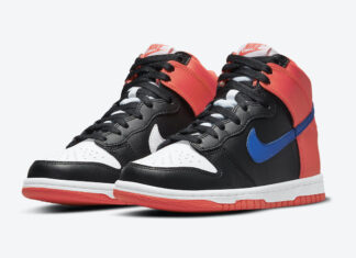 Nike Dunk High GS Black Orange Blue DB2179-001 Release Date Info