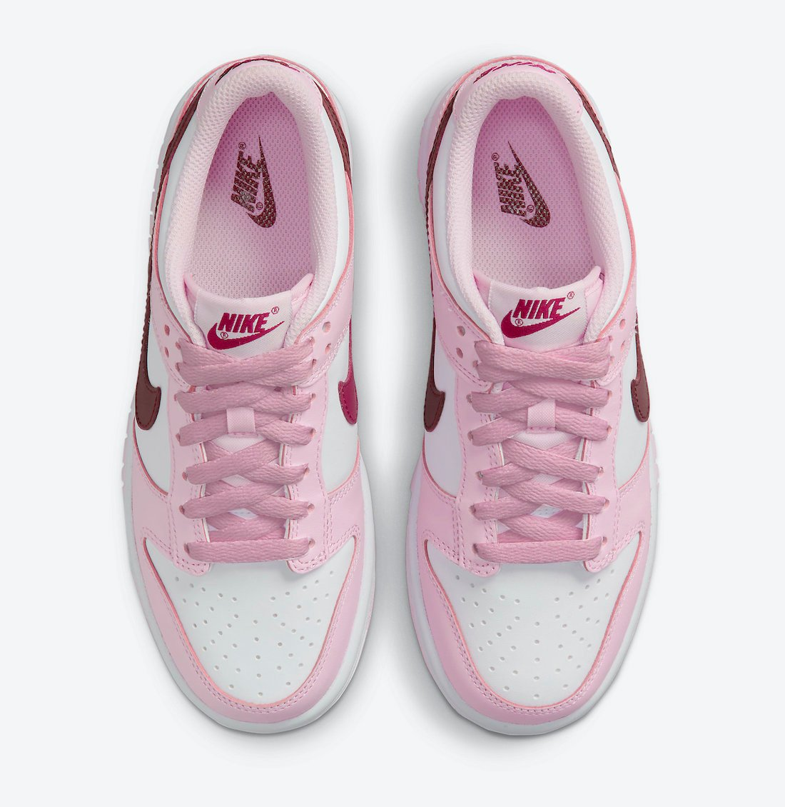 Nike Dunk Low GS White Pink Red CW1590-601 Release Date Info