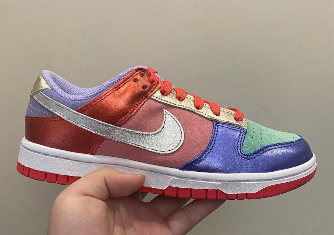 Nike Dunk Low Multi Metallic Mismatch Release Date Info