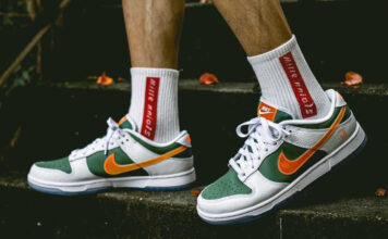 Nike Dunk Low NY vs NY DN2489-300 On-Feet