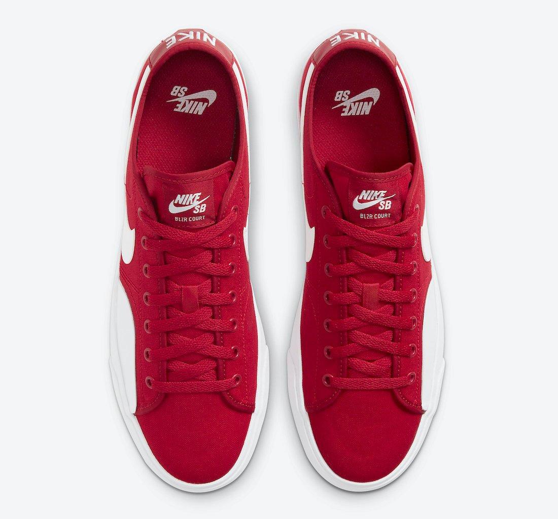 Nike SB Blazer Court Gym Red CV1658-600 Release Date Info