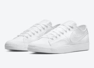 Nike SB Blazer Court Triple White CV1658-102 Release Date Info