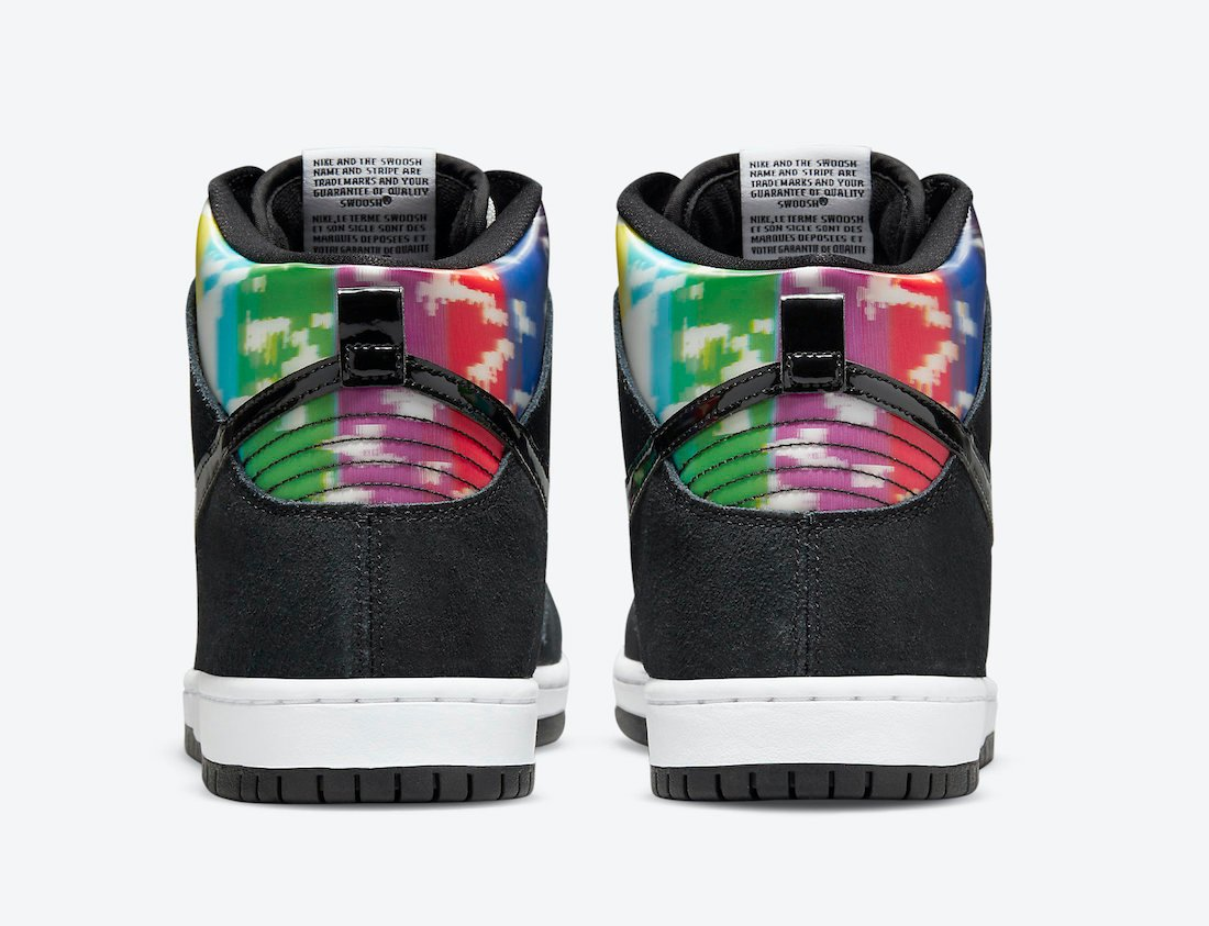 Nike SB Dunk High TV Signal Color Bars CZ2253-100 Release Date