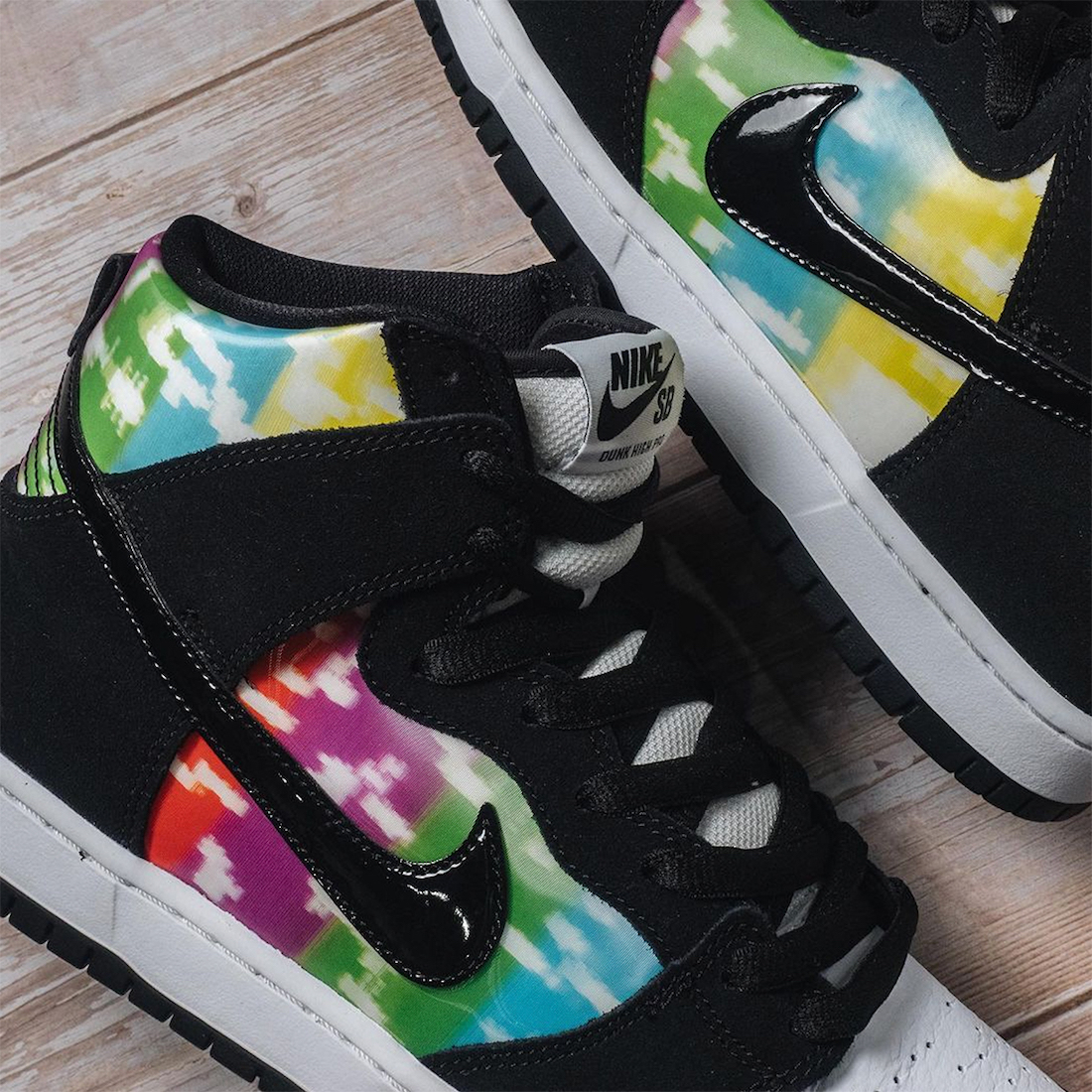 Nike SB Dunk High TV Signal Color Bars Release Date Info
