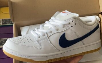 Nike SB Dunk Low Orange Label White Navy Gum Release Date Info