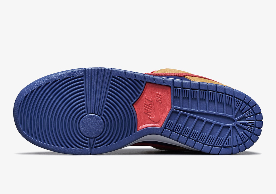 Nike SB Dunk Low Wheat Light Fusion Red Dark Purple BQ6817-700 Release Date Info