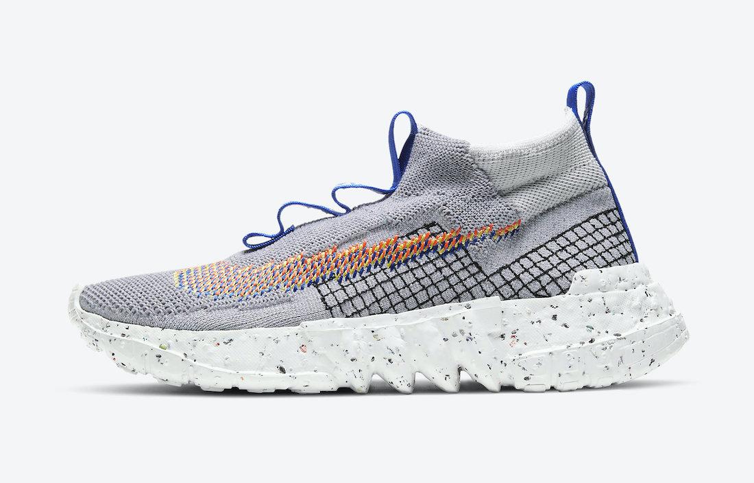 Nike Space Hippie 02 Grey Blue CQ3988-003 Release Date Info