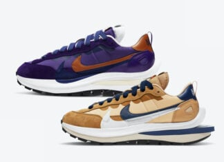 Sacai Nike VaporWaffle Sesame Dark Iris