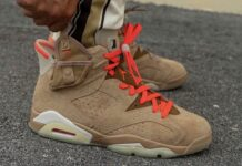 Travis Scott x Air Jordan 6 British Khaki DH0690-200 Lace Swap