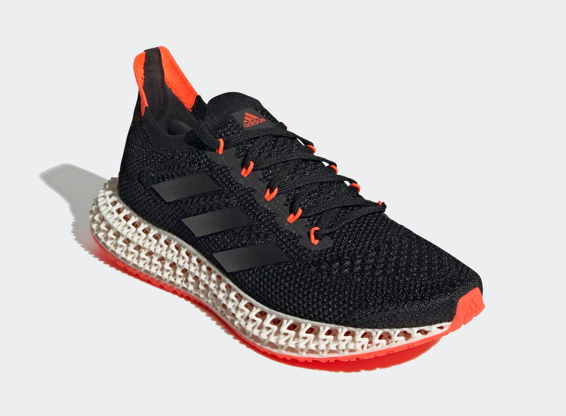 adidas 4DFWD Black Solar Red FY3963 Release Date Info