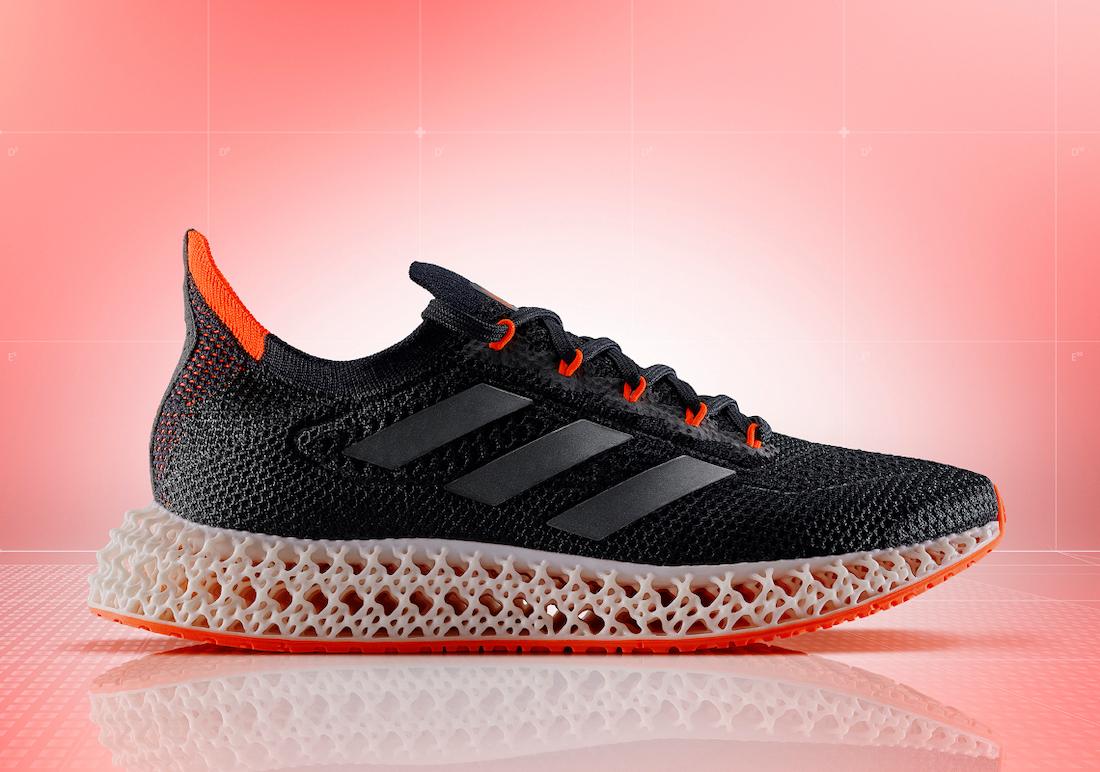 adidas 4DFWD Black Solar Red FY3963