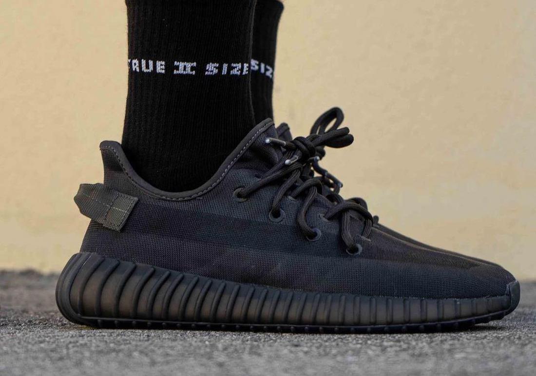 adidas Yeezy Boost 350 V2 Mono Black GX3791 Release Date Info