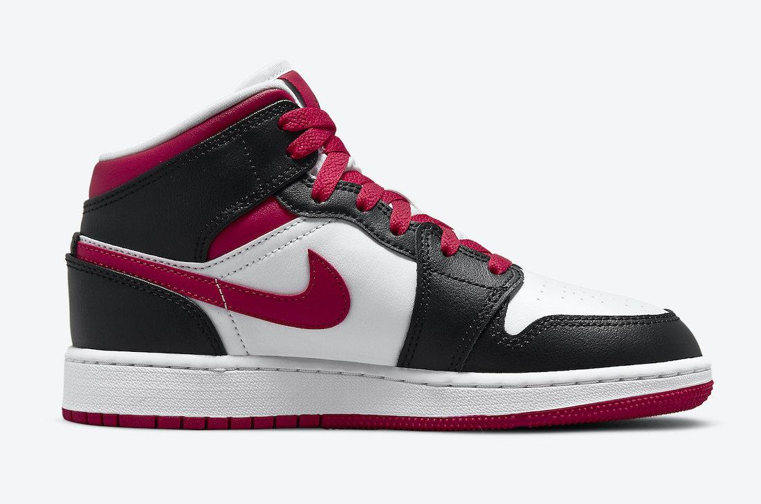 Air Jordan 1 Mid GS White Black Red 554725-016 Release Date Info