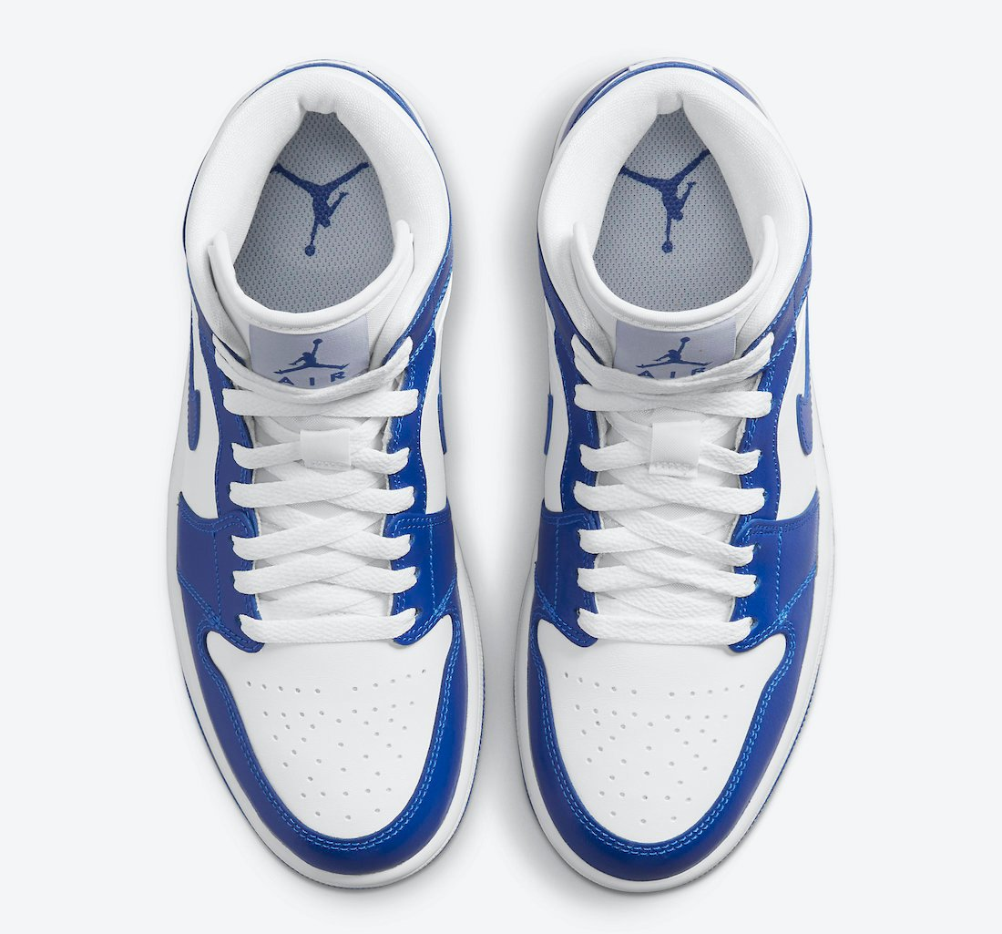 Air Jordan 1 Mid White Blue BQ6472-104 Release Date Info   SneakerFiles