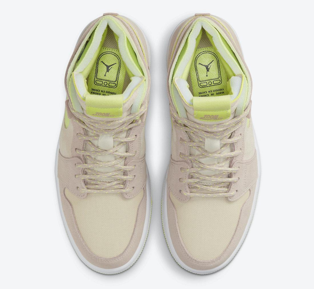 Air Jordan 1 Zoom CMFT Pearl White Fossil Lemon Twist CT0979-200 Release Date Info