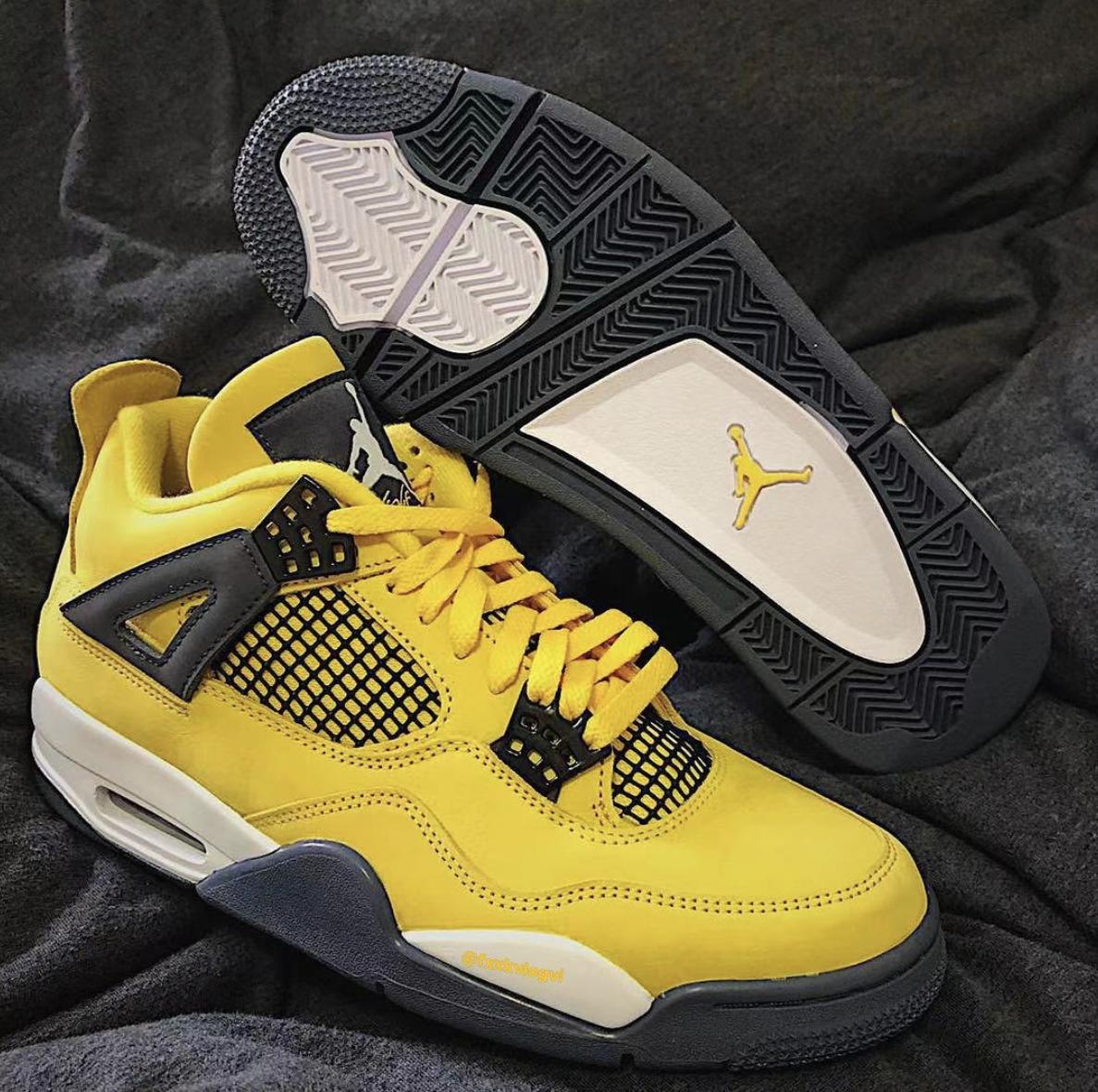 Air Jordan 4 Lightning Tour Yellow CT8527-700 Release Date