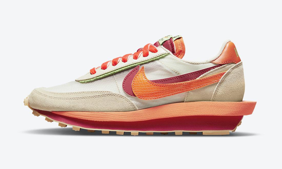 Clot Sacai Nike LDWaffle Orange Blaze DH1347-100 Release Date