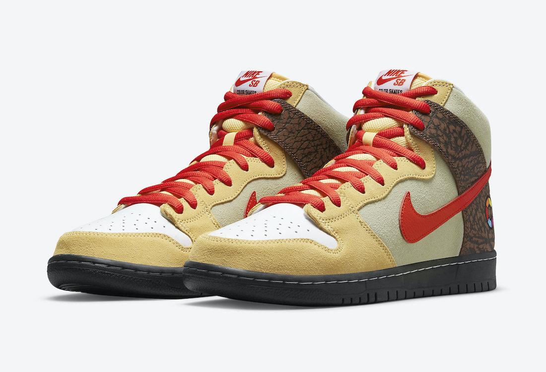 Color Skates Nike SB Dunk High Kebab and Destroy CZ2205-700 Release Date