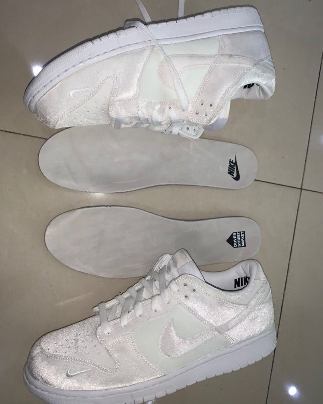 Dover Street Market Nike Dunk Low White DH2686-100 Release Date Info