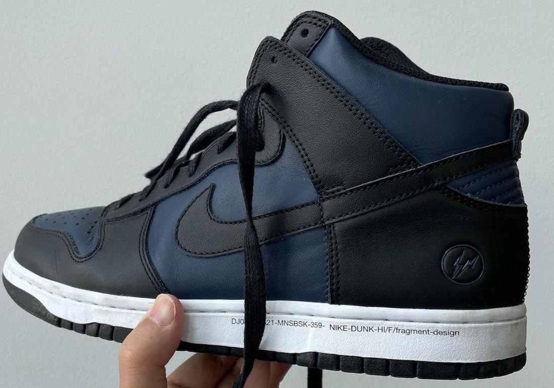 Fragment Nike Dunk High Black Navy DJ0382-400 Release Date