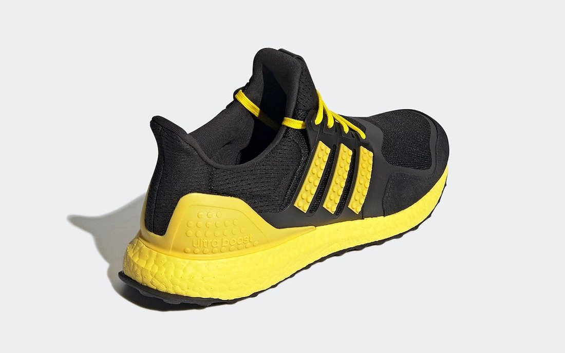 LEGO adidas Ultra Boost DNA Black Yellow H67953 Release Date Info