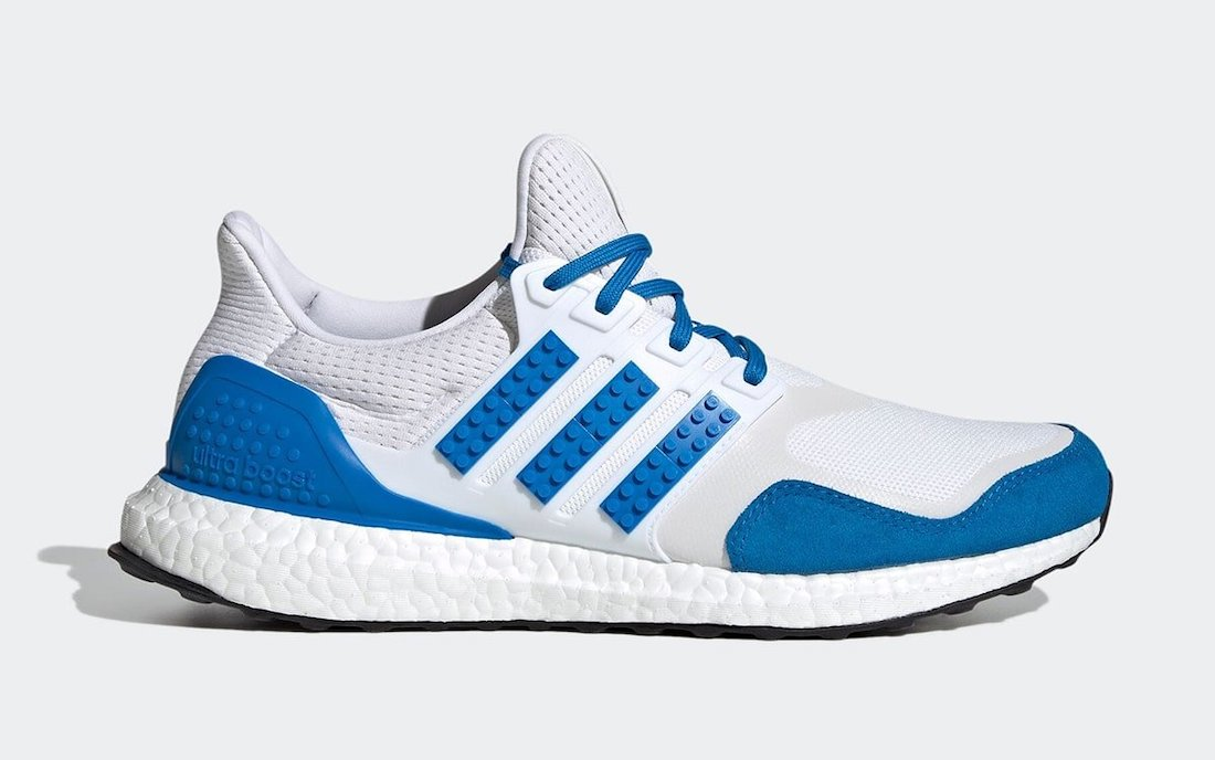 LEGO adidas Ultra Boost DNA White Blue H67952 Release Date Info