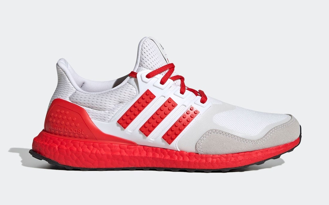 LEGO adidas Ultra Boost DNA White Red H67955 Release Date Info