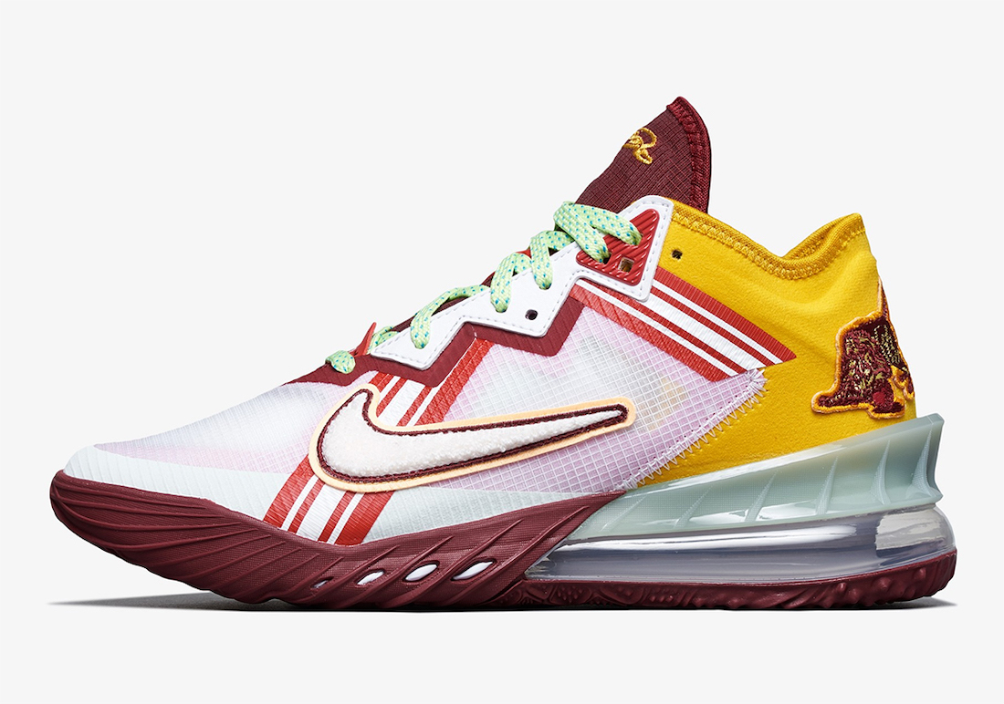 Mimi Plange Nike LeBron 18 Low Higher Learning CV7562-102 Release Date Info