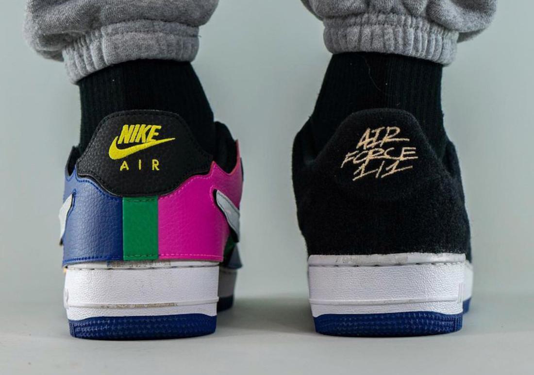 Nike Air Force 1/1 Black Multi DB2576-001 Release Date Info