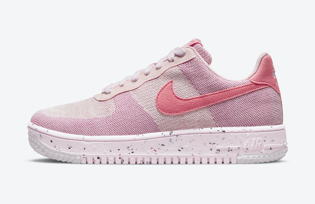 Nike Air Force 1 Crater Flyknit Pink DC7273-600 Release Date Info