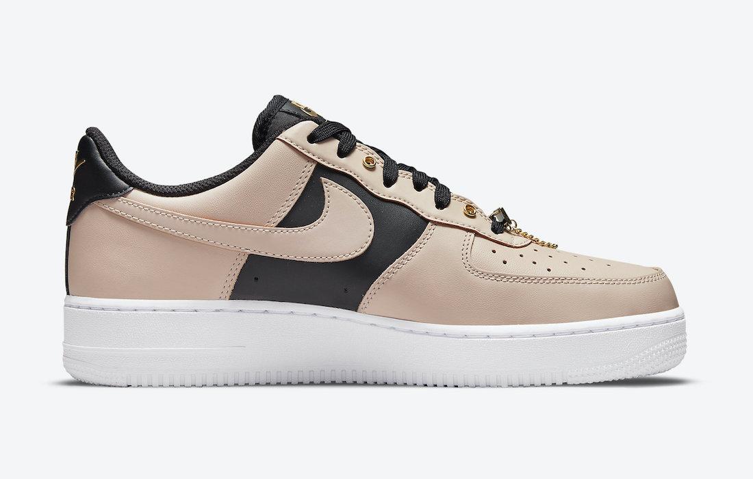 Nike Air Force 1 Low Beige Black Gold DA8571-200 Release Date Info