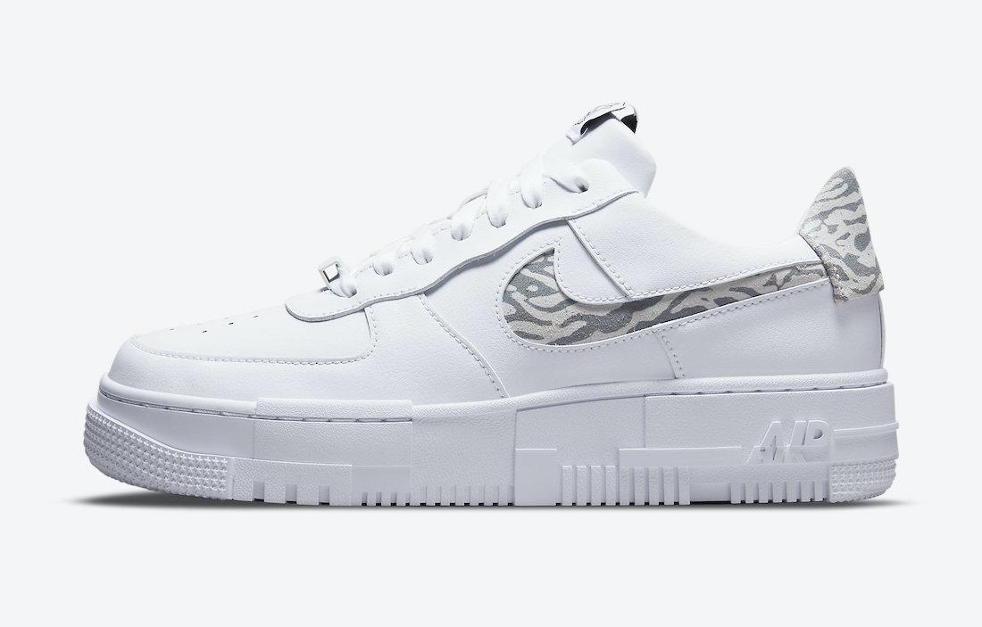 Nike Air Force 1 Pixel Zebra DH9632-100 Release Date Info