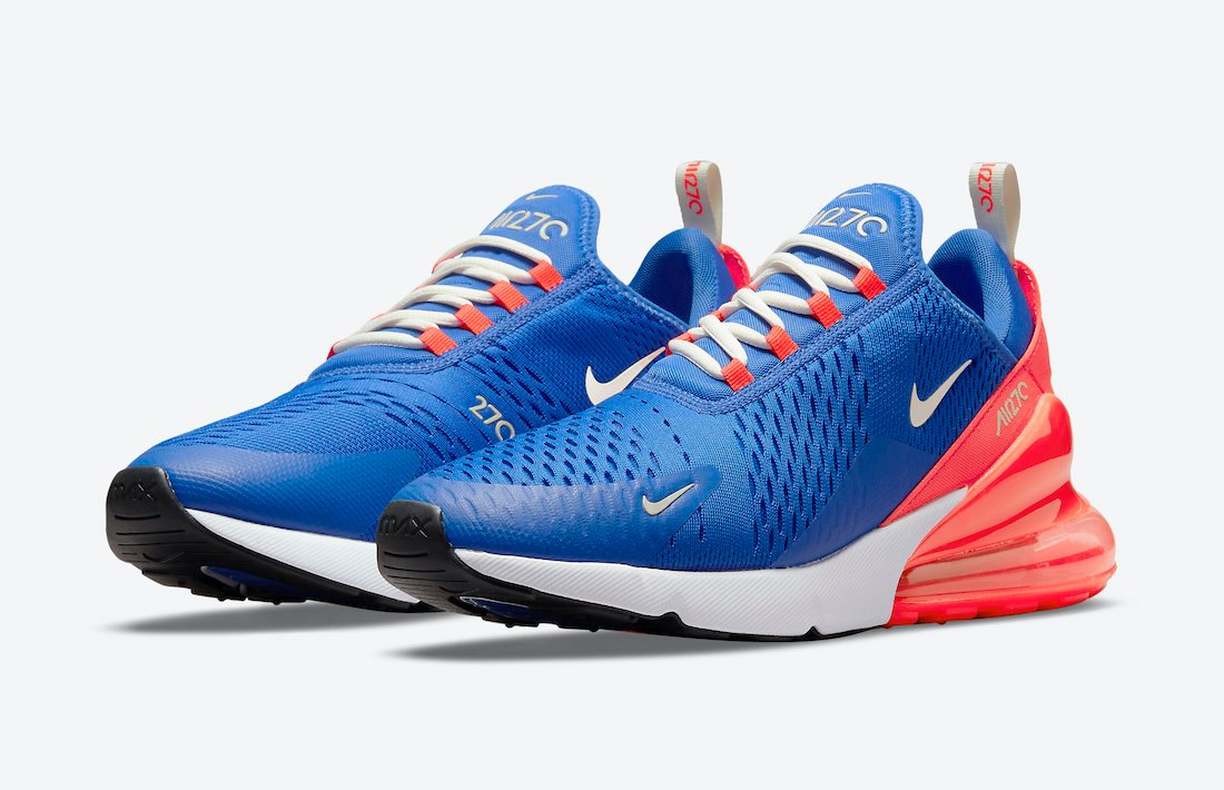 Nike Air Max 270 Blue White Red DM8315-400 Release Date Info